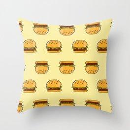 Fast Food Hamburgers Throw Pillow