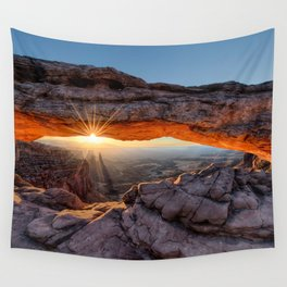 Mesa Arch Sunburst  by Lena Owens Wall Tapestry