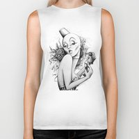 burlesque Biker Tanks featuring Burlesque by Zema