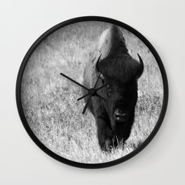 Bison - Monochrom Wall Clock