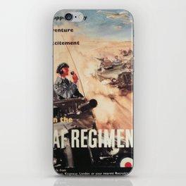Vintage poster - Royal Air Force iPhone Skin