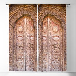 Entrance to a Temple Kathmandu, Nepal Blackout Curtain