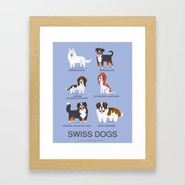 SWISS DOGS Framed Art Print