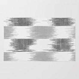 Modern black gray white ikat pattern Rug