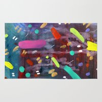 confetti Area & Throw Rugs featuring Confetti by Ink and Paint Studio