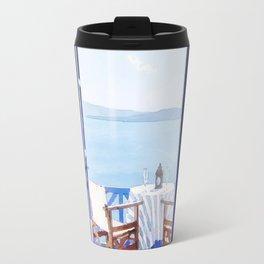 House and beach Travel Mug