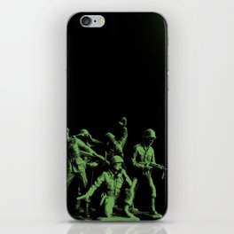Plastic Army Man Battalion Black and Green iPhone Skin