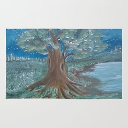 Tree by the Water Rug