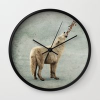 howl Wall Clocks featuring howl by Seamless