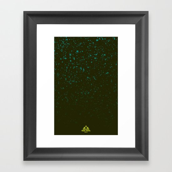 Trail Status / Green Framed Art Print