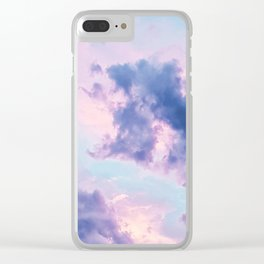 Violet Clouds (Color) Clear iPhone Case