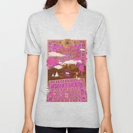 MORNING PSYCHEDELIA (Purple/pink) Unisex V-Neck