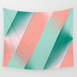 Soft Pink Peach Amber Yucca and Arbor Green Seamless Ombre Wall Tapestry