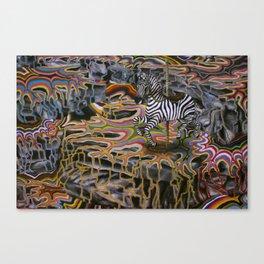 Rainbow ride Canvas Print