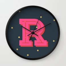 R is for Rad Wall Clock
