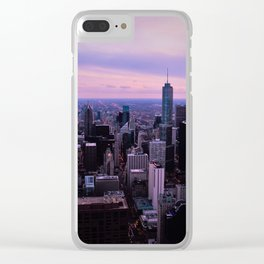Chicago Sunsets Clear iPhone Case
