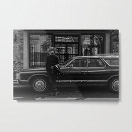 'The Good Boys' Black and White Photo Collage Metal Print