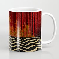 twin peaks Mugs featuring Twin Peaks  by Magdalena Almero