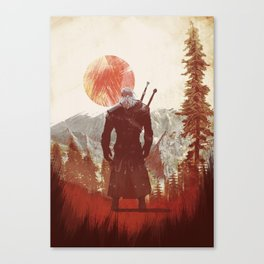 The Witcher Geralt variation print Canvas Print