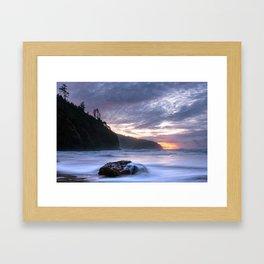 Cape Lookout Sunset Framed Art Print