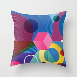 GEOMETRIC GROOVE 2 Throw Pillow
