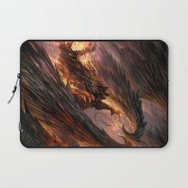 Black Crystal Dragon Laptop Sleeve