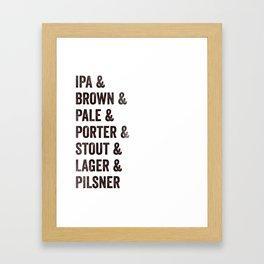 Craft Beer Framed Art Print