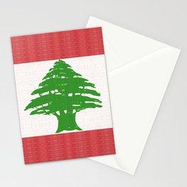 Lebanon Flag Stationery Cards