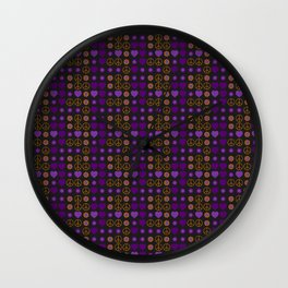Halloween Peace Holiday Weave Wall Clock