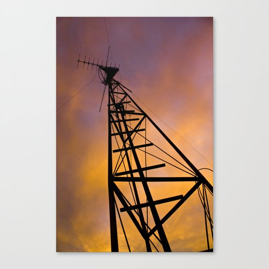 The Old Radio Tower at Sunset Canvas Print
