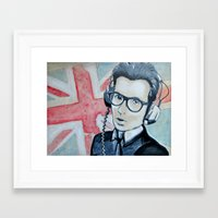 union jack Framed Art Prints featuring UNION JACK by Vin Zzep