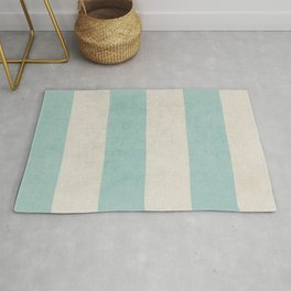 vintage robins egg blue stripes Rug