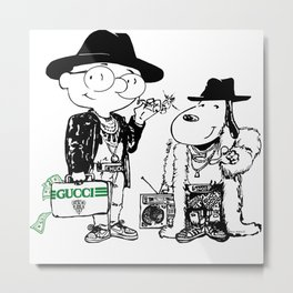 Chuck and Snoop Metal Print