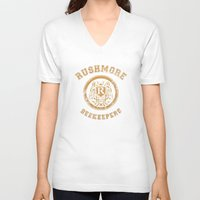 rushmore V-neck T-shirts featuring Rushmore Beekeepers Society by steeeeee