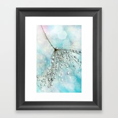 Shower Sparkles Framed Art Print
