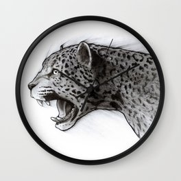 Jaguar Charcoal Wall Clock
