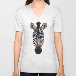 Polygon Zebra Unisex V-Neck