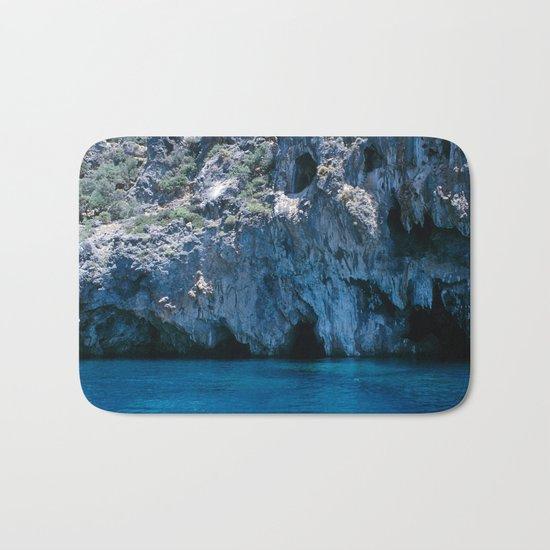 NATURE'S WONDER #4 - BLUE GROTTO #art #society6 Bath Mat