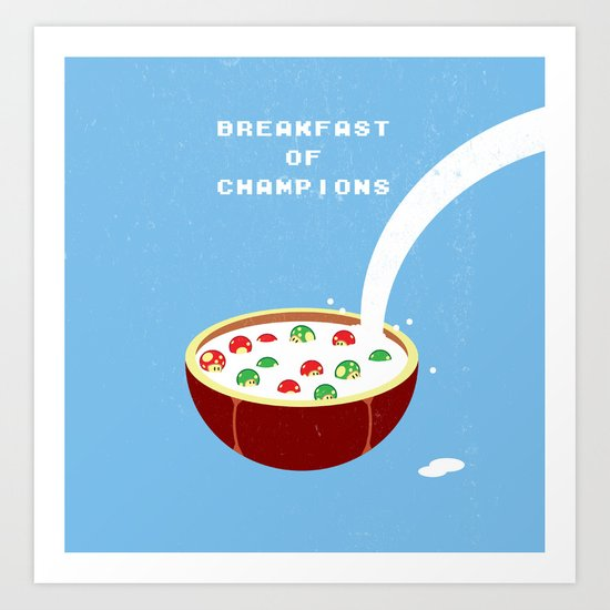 Breakfast of Champions Art Print