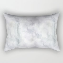 Watercolor lilac violet green abstract brushstrokes Rectangular Pillow