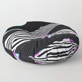 Stripes Mountains Floor Pillow