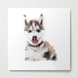Picture of funny doggi Metal Print