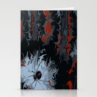 black widow Stationery Cards featuring widow by Shea33
