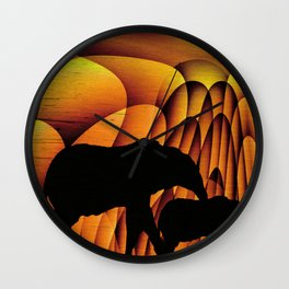 Storms Over Africa 2017 Wall Clock