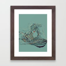 Kissing The Wave Framed Art Print