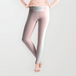 Pink Bubblegum Pop and White Wide Cabana Stripes Leggings