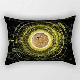 Bitcoin Blockchain Cryptocurrency Rectangular Pillow