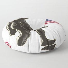 Hide and seek world champion USA Flag shirt bigfoot is real funny Tees Floor Pillow