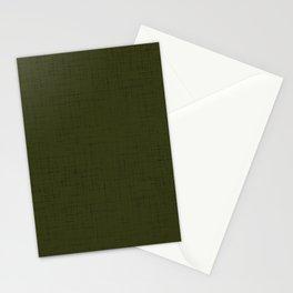 Dark olive textured. 2 Stationery Cards
