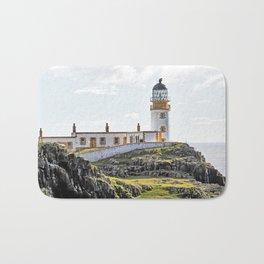 Lighthouse at Neast Point, Isle of Skye, Scotland Bath Mat